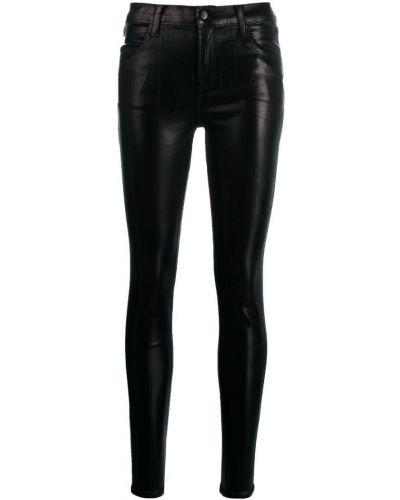 Укороченные джинсы скинни черные J Brand