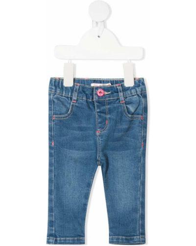 Niebieskie jeansy z wysokim stanem bawełniane Billieblush