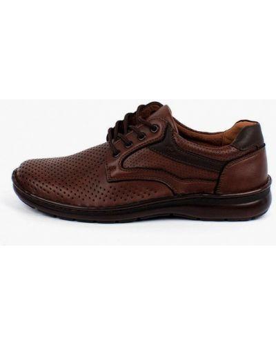 Коричневые кожаные ботинки Berten