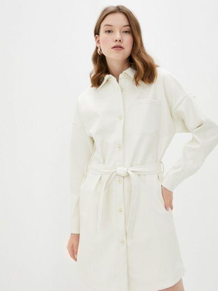 Платье платье-рубашка бежевое Sela