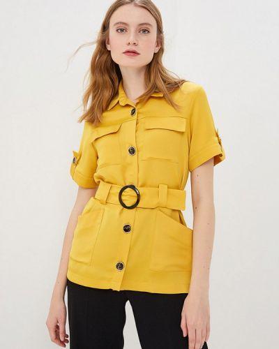 Блузка с коротким рукавом желтый River Island