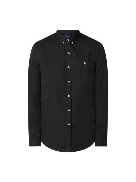 Bawełna puchaty czarny koszula z mankietami Polo Ralph Lauren