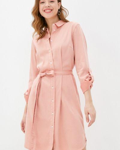 Розовое платье-рубашка Vila