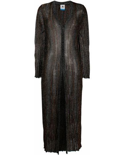 Однобортное черное длинное пальто на пуговицах M Missoni