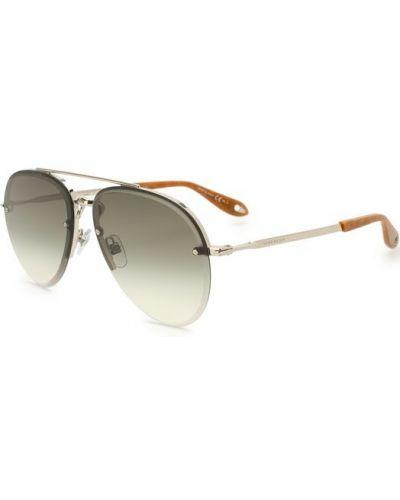 Солнцезащитные очки серебряного цвета Givenchy