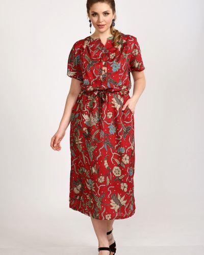 Летнее платье на пуговицах с цветочным принтом марита