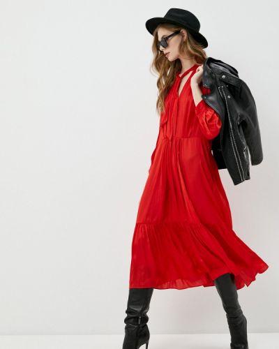 Повседневное красное платье Zadig & Voltaire