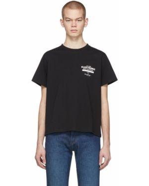 Хлопковая с рукавами черная рубашка с воротником Second/layer