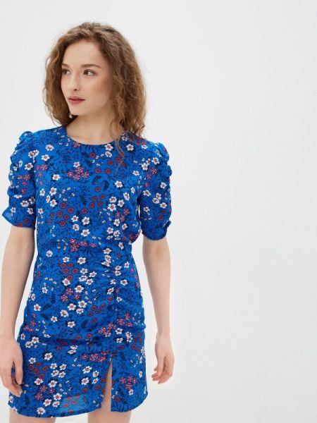 Джинсовое платье прямое синее Pepe Jeans