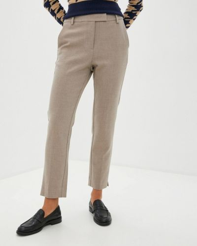 Бежевые классические брюки Marks & Spencer