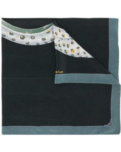 Шелковый черный платок Cartier Pre-owned