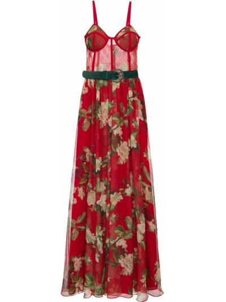 Тонкое платье макси на бретелях без рукавов с разрезом Patbo