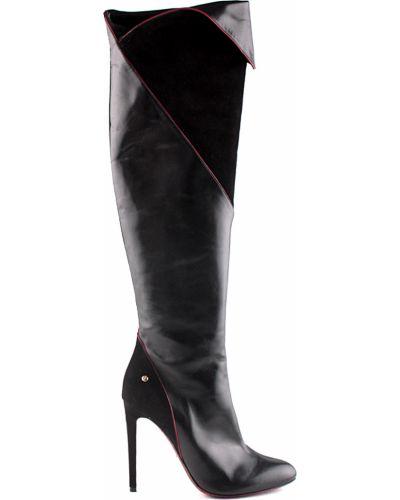 Ботфорты на каблуке кожаные замшевые Cesare Paciotti