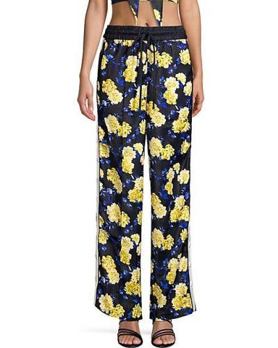 Желтые брюки в полоску с карманами Kendall + Kylie