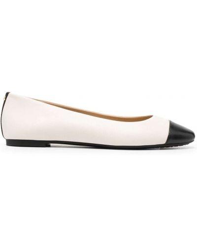 Кожаные белые туфли круглые Michael Kors