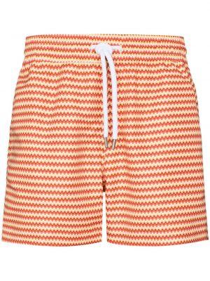 Хлопковые пляжные плавки-боксеры в полоску Frescobol Carioca