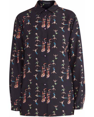 Блузка с длинным рукавом на пуговицах шелковая Etro