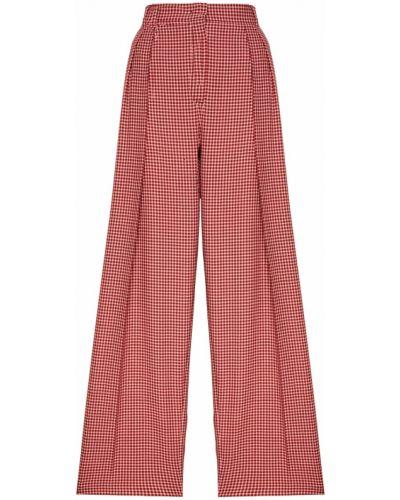 Свободные брюки в клетку со стрелками Fendi