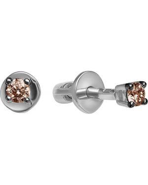Серьги из золота серебряный Vesna Jewelry