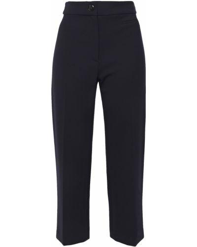 Прямые укороченные брюки в полоску из вискозы Veronica Beard