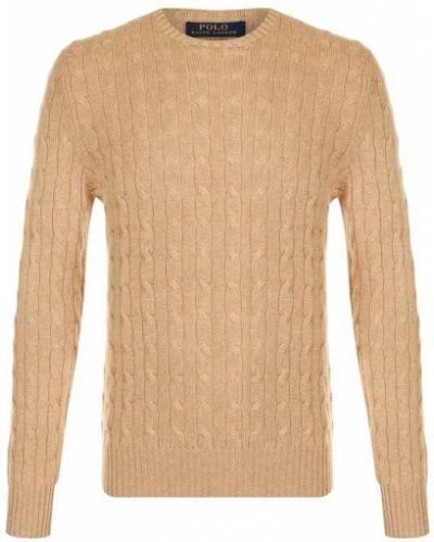 Бежевый свитер кашемировый Polo Ralph Lauren
