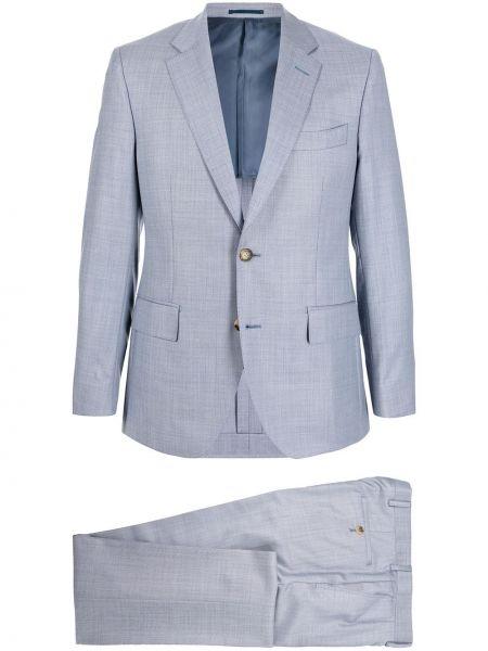 Niebieski klasyczny garnitur Gieves & Hawkes