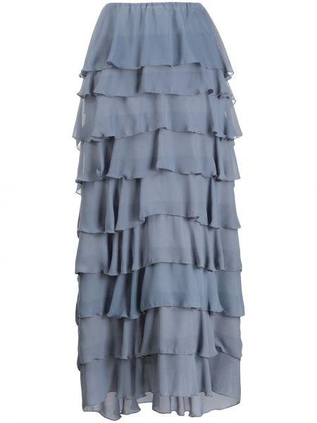 Ażurowa niebieska spódnica maxi So Allure