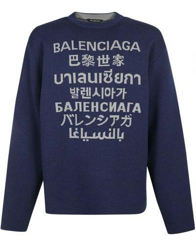 Niebieska bluza dresowa Balenciaga
