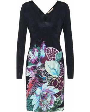 Платье мини с цветочным принтом стрейч Roberto Cavalli