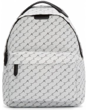 Кожаный рюкзак белый текстильный Stella Mccartney