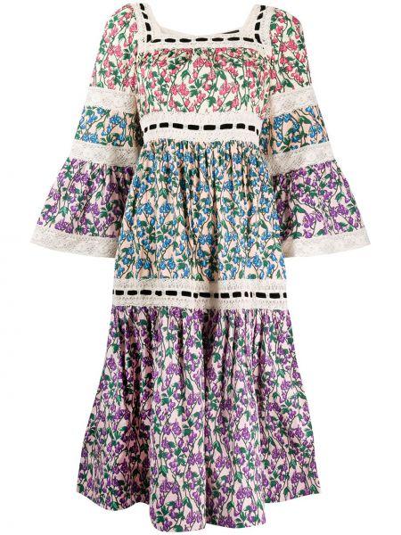 Платье в цветочный принт Marc Jacobs