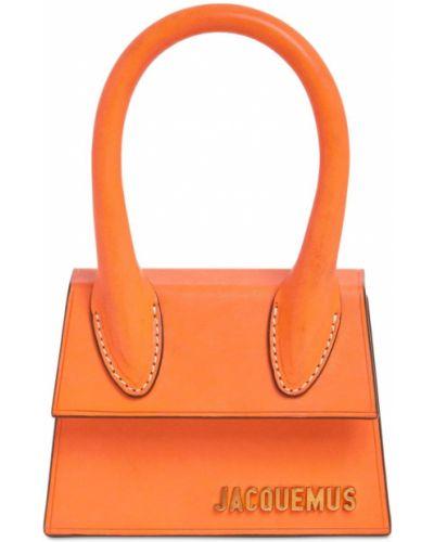 Оранжевая кожаная сумка с подкладкой Jacquemus