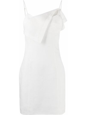 Открытое белое платье мини с открытой спиной Jacquemus