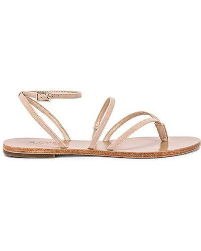Sandały skorzane klamry Raye