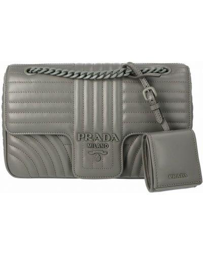 Szara torba na ramię Prada