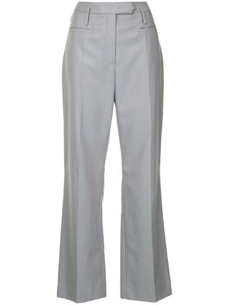 Серые деловые брюки с воротником с карманами Nehera