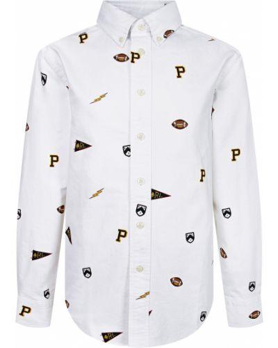 Нарядная белая рубашка Ralph Lauren