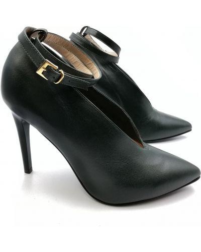 Кожаные туфли - зеленые Sala