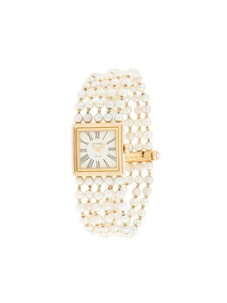 Кварцевые часы золотые винтажные квадратные Chanel Pre-owned