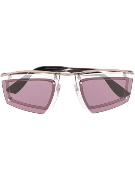 Okulary srebrne - czerwone Acne Studios