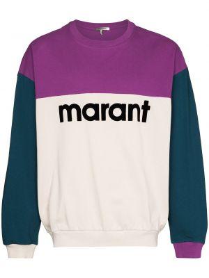 Ватный хлопковый фиолетовый свитер Isabel Marant