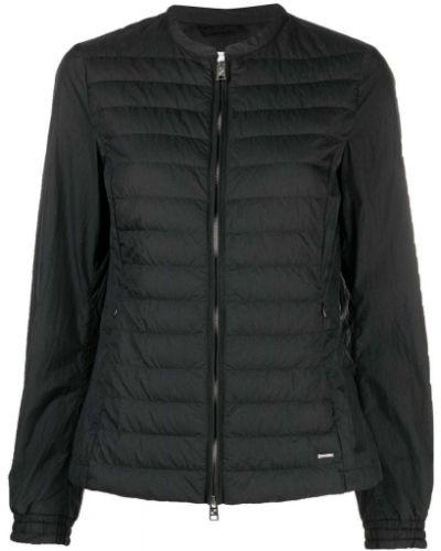 Черная стеганая куртка на молнии Woolrich
