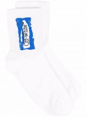 Белые носки из эластана Off-white