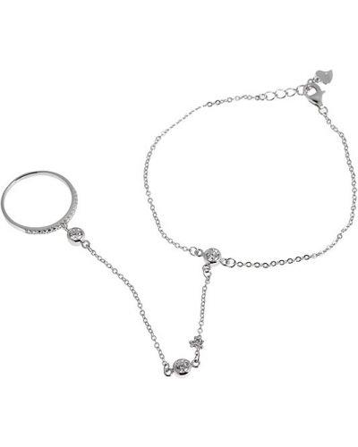 Серебряный браслет с фианитом с камнями Sandara