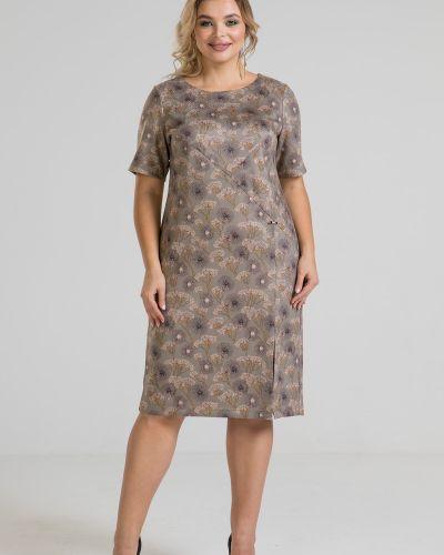 Нарядное с рукавами платье-футляр с разрезом марита