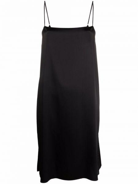 Черное зауженное платье Krizia