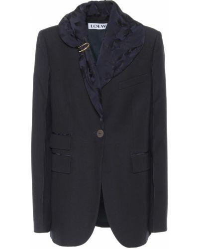 Шерстяной синий пиджак Loewe