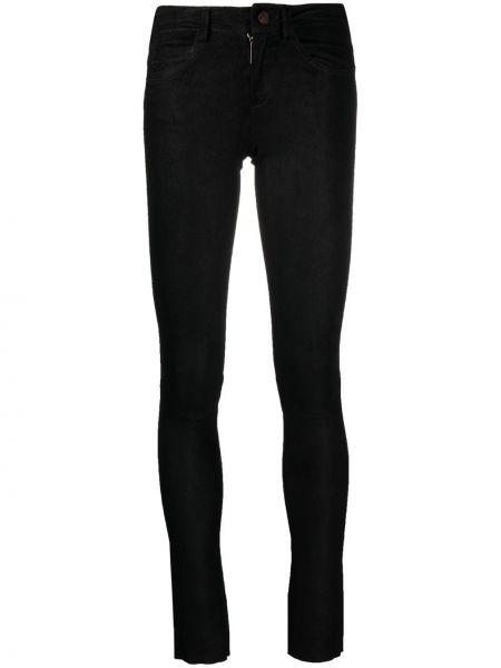 Кожаные черные джинсы-скинни на молнии Giorgio Brato
