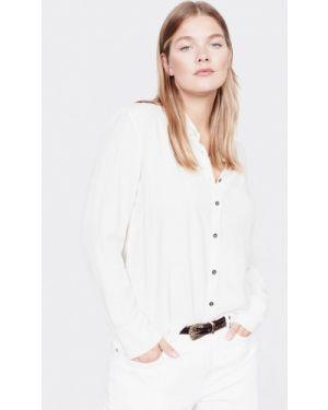 Блузка с длинным рукавом белая Violeta By Mango