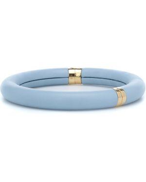 Niebieski naszyjnik srebrny Bottega Veneta